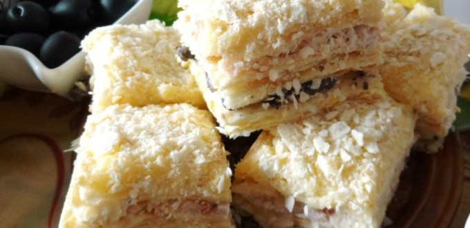 несладкий торт наполеон рецепт